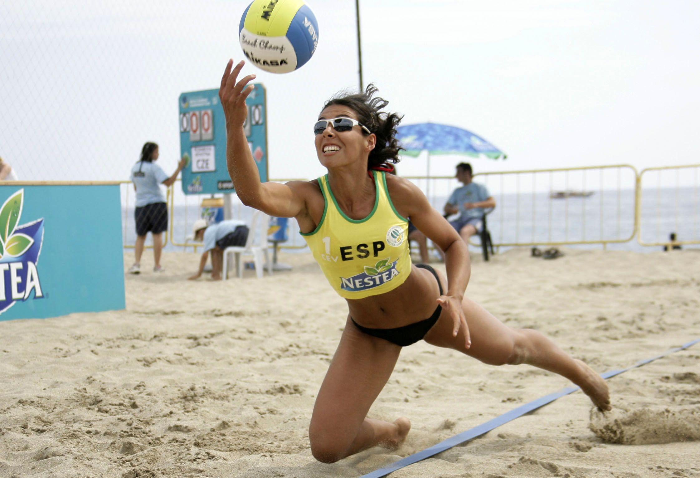 Beachvolleyball: NESTEA European Championship Tour 2006, Turkish Masters, Teresa Zunzunegui (ESP) , www.hoch-zwei.net , copyright: HOCH ZWEI / GSM
