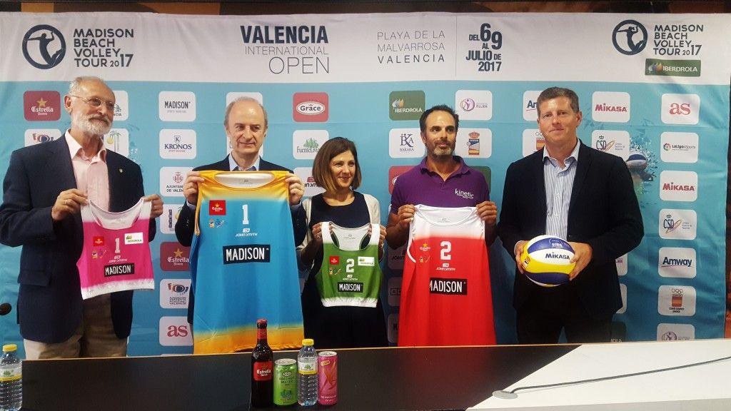 Presentada en Valencia la segunda edición del Madison Beach Volley Tour 2017