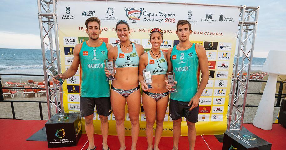 Ganadores Copa España Vóley Playa