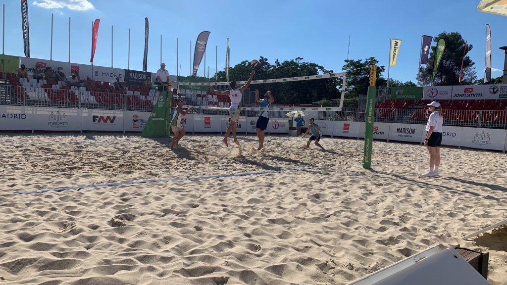 El Madison Beach Volley Tour Madrid International Open arranca con una disputadísima jornada inaugural