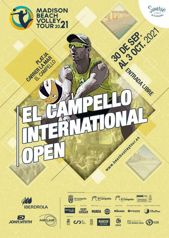 El Madison Beach Volley Tour hace escala por primera vez en  El Campello del 30 de septiembre al 3 de octubre